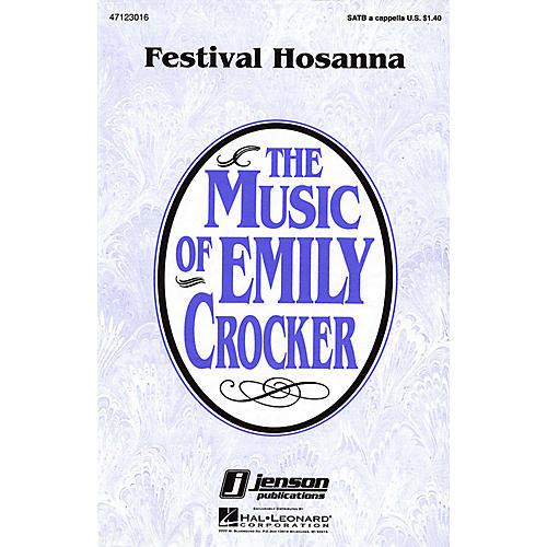 Hal Leonard Festival Hosanna SATB a cappella composed by Emily Crocker-thumbnail