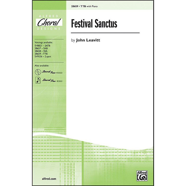 AlfredFestival Sanctus TTB Choral Octavo