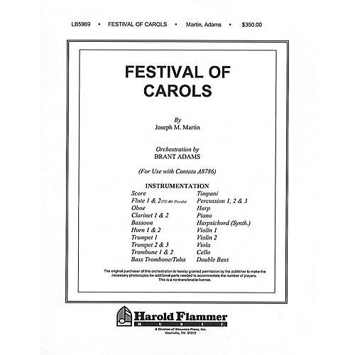 Shawnee Press Festival of Carols (Full Orchestration) Score & Parts composed by Joseph M. Martin-thumbnail