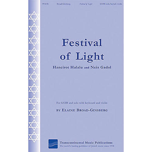 Transcontinental Music Festival of Light (Haneirot Halalalu and Neis Gadol) SATB composed by Elaine Broad-Ginsberg-thumbnail