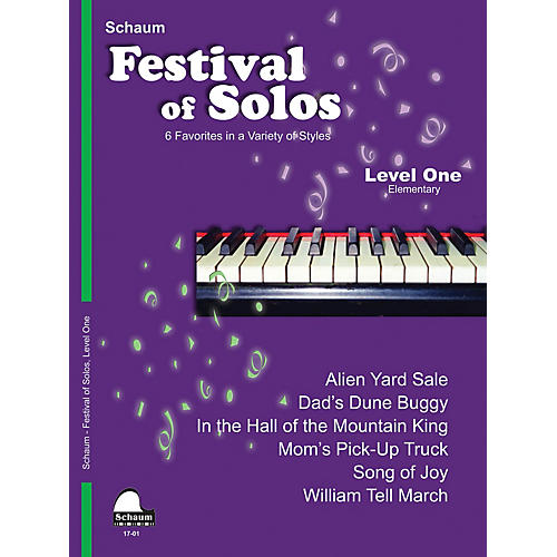 SCHAUM Festival of Solos (Level 1 Elem Level) Educational Piano Book by Various-thumbnail