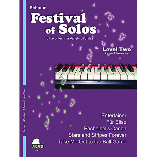 SCHAUM Festival of Solos (Level 2 Upper Elem Level) Educational Piano Book by Various-thumbnail