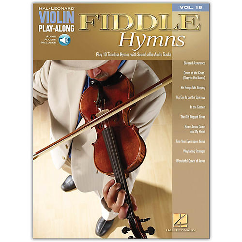 Hal Leonard Fiddle Hymns - Violin Play-Along Volume 18 (Book/CD)-thumbnail