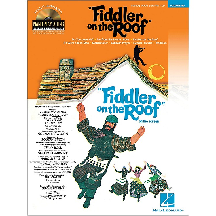 Hal Leonard Fiddler On The Roof - Piano Play-Along Volume 80 (Book/CD) arranged for piano, vocal, and guitar (P/V/G)