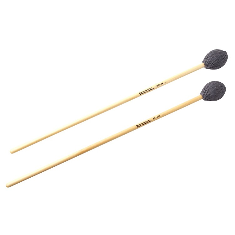 Innovative PercussionField Series Gray Yarn Marimba MalletsHard HeavyBirch Handles