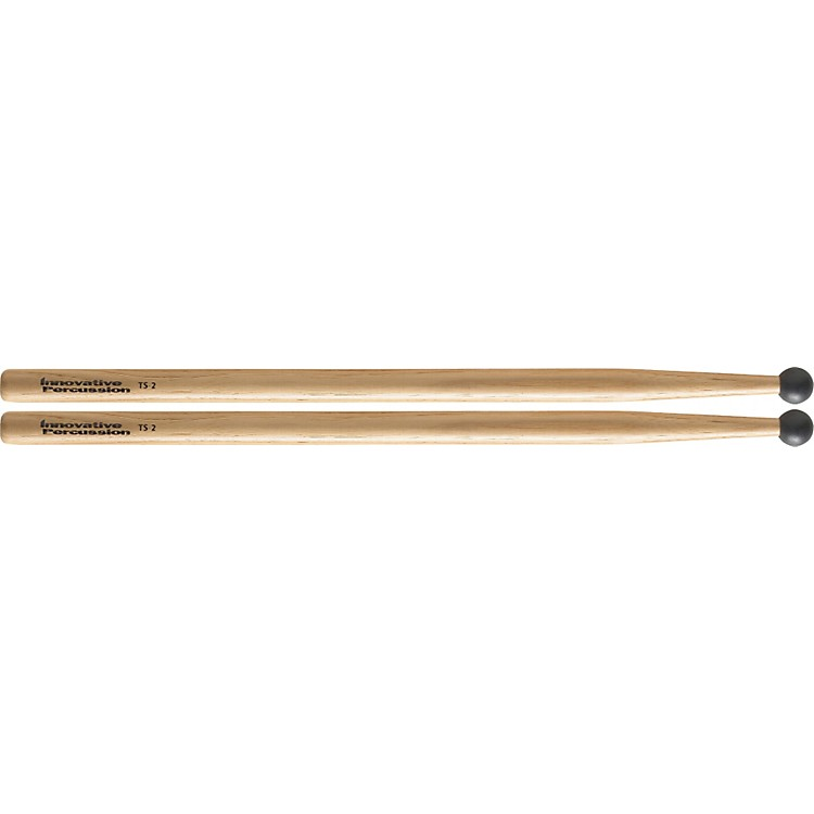 Innovative Percussion Field Series Multi-Tom Hickory Drum Sticks TS-2 OVERSIZED ROUND BEAD NYLON HICKORY