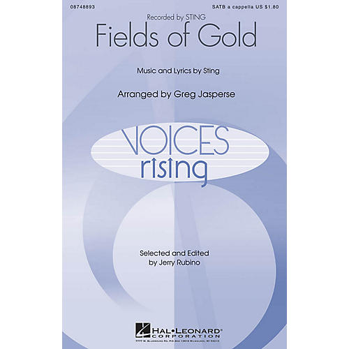 Hal Leonard Fields of Gold SATB DV A Cappella by Sting arranged by Greg Jasperse-thumbnail