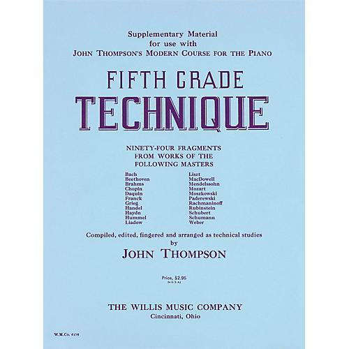Willis Music Fifth Grade Technique Willis Series by John Thompson (Level Very Advanced)-thumbnail