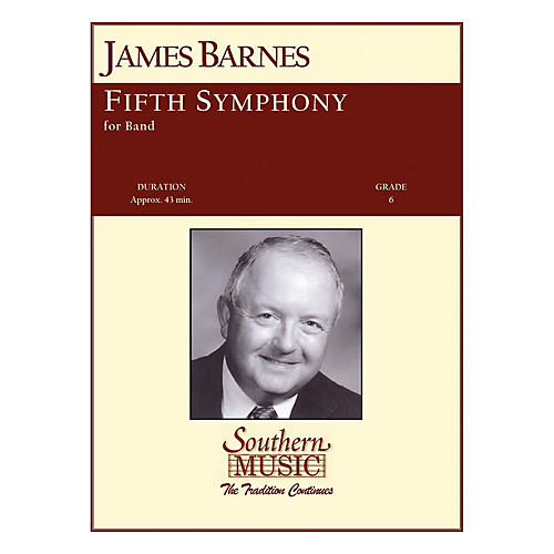 Southern Fifth Symphony Concert Band Level 6 Composed by James Barnes-thumbnail