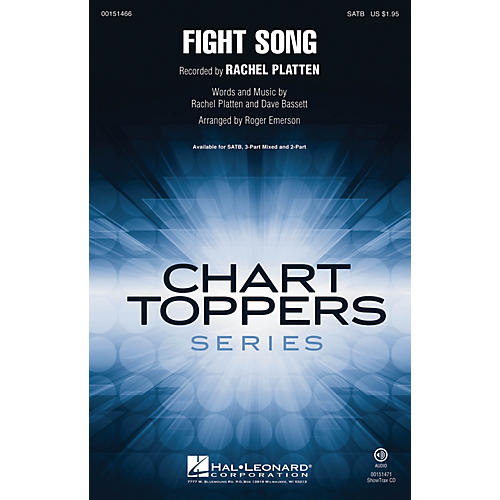 Hal Leonard Fight Song SATB by Rachel Platten arranged by Roger Emerson-thumbnail