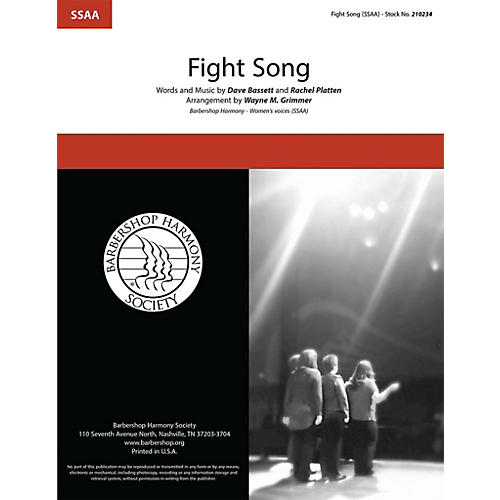 Barbershop Harmony Society Fight Song SSAA A Cappella arranged by Wayne Grimmer-thumbnail
