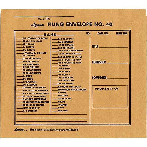 Lyons Filing Envelope