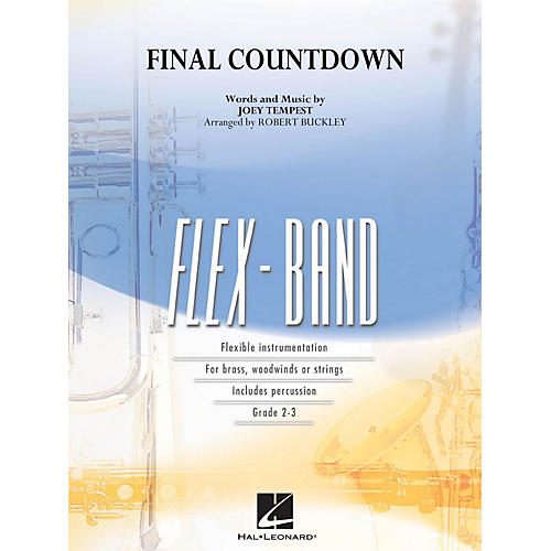 Hal Leonard Final Countdown Concert Band Level 2-3 by Europe Arranged by Robert Buckley-thumbnail