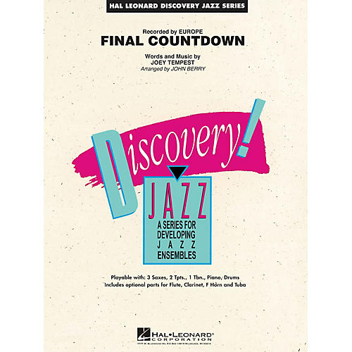Hal Leonard Final Countdown Jazz Band Level 1.5 by Europe Arranged by John Berry