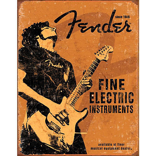 Fender Fine Electric Instruments Tin Sign