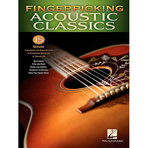 Hal Leonard Fingerpicking Acoustic Classics - 15 Songs Arr. For Solo Gtr In Standard Notation & Tab-thumbnail