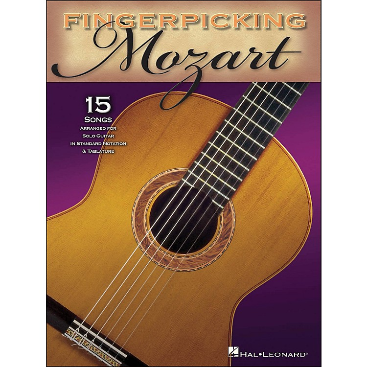 Hal Leonard Fingerpicking Mozart 15 Pieces Arranged for Solo Gtr In Standard Notation & Tab
