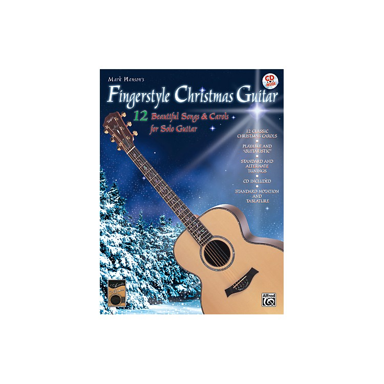Alfred Fingerstyle Christmas Guitar Book & CD