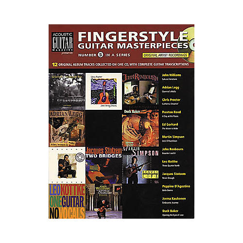 String Letter Publishing Fingerstyle Guitar Masterpieces (Book/CD)