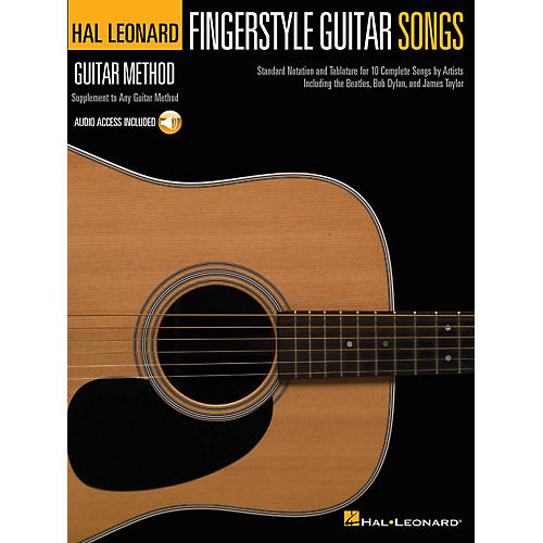 Hal Leonard Fingerstyle Guitar Songs Guitar Method Series Softcover Audio Online Performed by Various-thumbnail