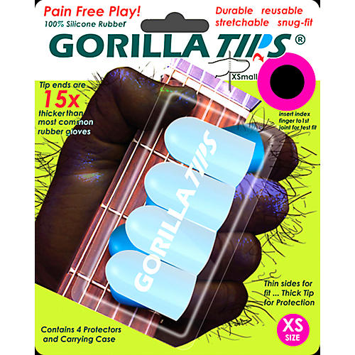 Gorilla Tips Fingertip Protectors Clear Extra Small