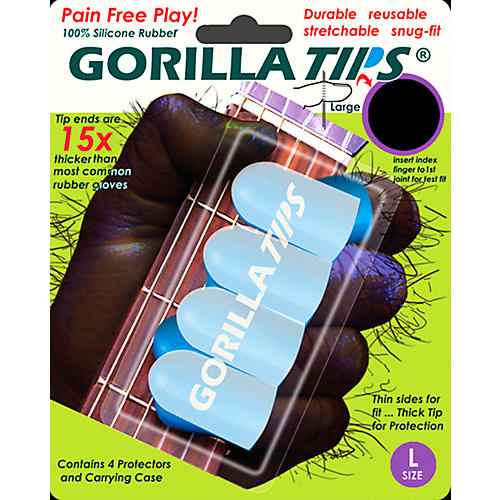 Gorilla Tips Fingertip Protectors Clear Large
