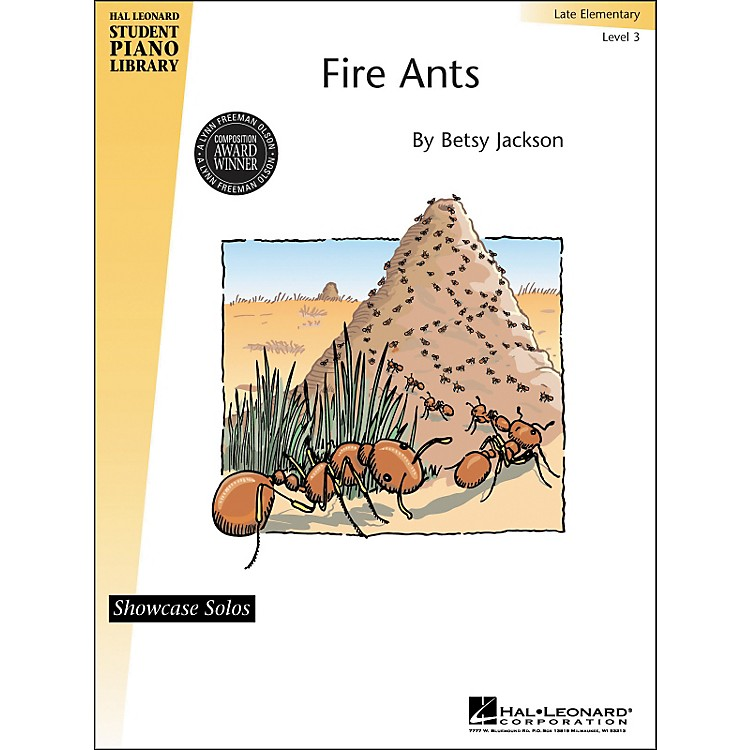 Hal Leonard Fire Ants - Late Elementary Level 3 Showcase Solos Hal Leonard Student Piano Library