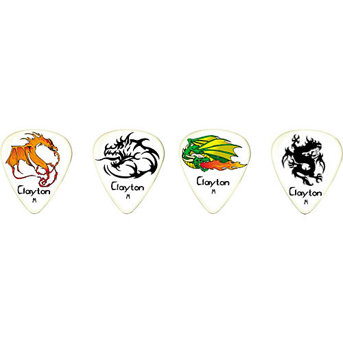 Clayton Fire Breathers Standard Guitar Picks 1 Dozen