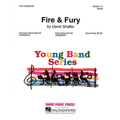 Band Music Press Fire & Fury Concert Band Level 1 1/2 Composed by David Shaffer
