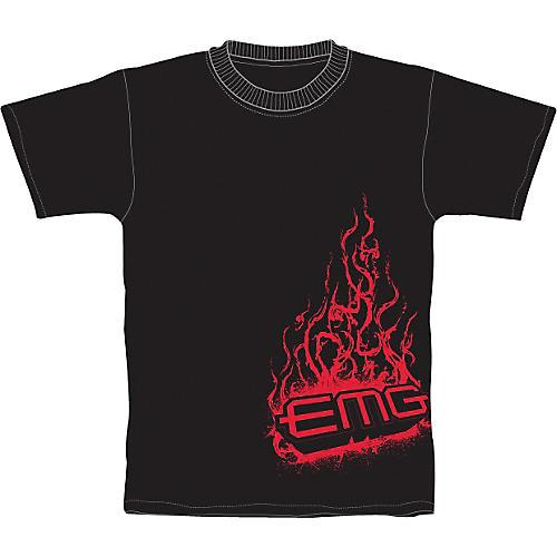 EMG Fire Red Flame Logo T-Shirt