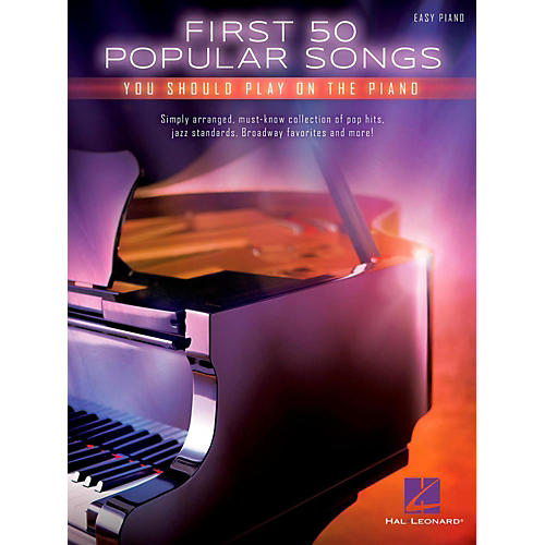 Hal Leonard First 50 Popular Songs You Should Play On The Piano (Easy Piano Notation)-thumbnail