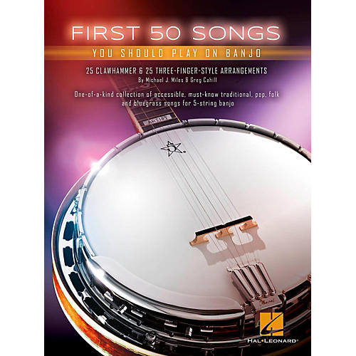 Hal Leonard First 50 Songs You Should Play on Banjo-thumbnail