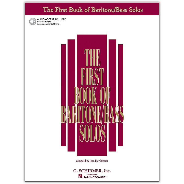G. SchirmerFirst Book Of Baritone  /Bass Solos Book/2CD Package