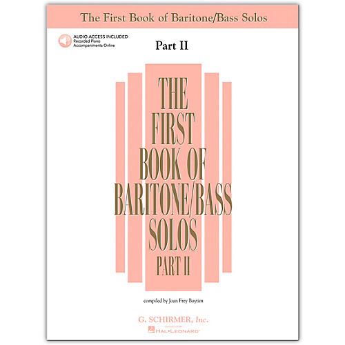G. Schirmer First Book Of Baritone / Bass Solos Part 2 Book/2CD's