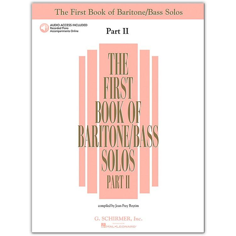 G. SchirmerFirst Book Of Baritone / Bass Solos Part 2 Book/2CD's