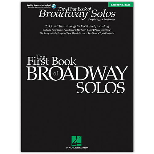 Hal Leonard First Book Of Broadway Solos Baritone / Bass Book/CD
