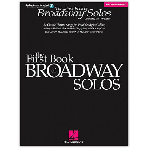 Hal Leonard First Book Of Broadway Solos for Mezzo-Soprano Book/CD Package