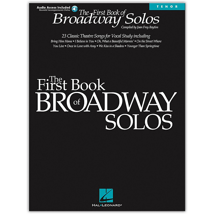 Hal Leonard First Book Of Broadway Solos for Tenor Voice Book/CD