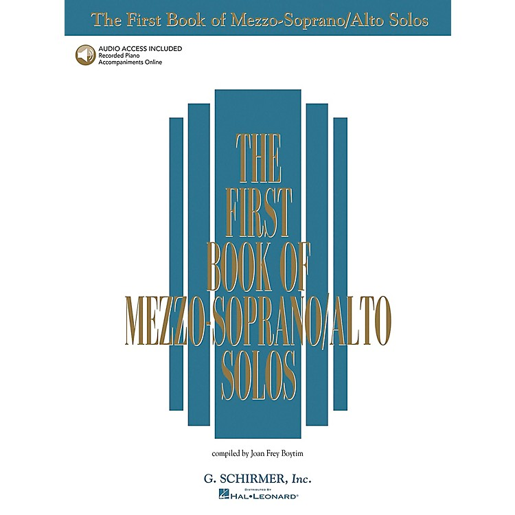 G. Schirmer First Book Of Mezzo-Soprano / Alto Solos Book/2CD Package