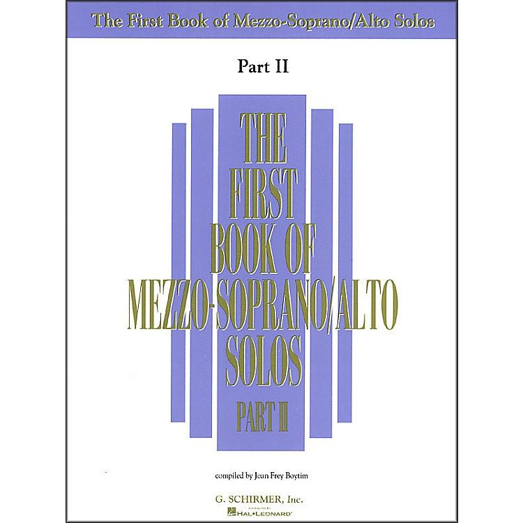 G. SchirmerFirst Book Of Mezzo-Soprano / Alto Solos Part 2