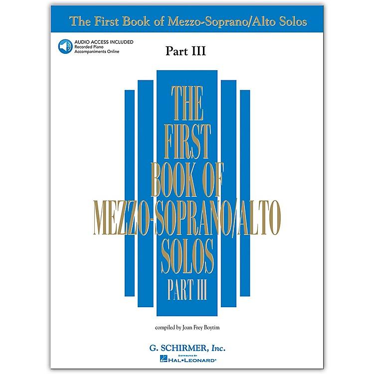 G. SchirmerFirst Book Of Mezzo-Soprano / Alto Solos Part III Book/2CD's