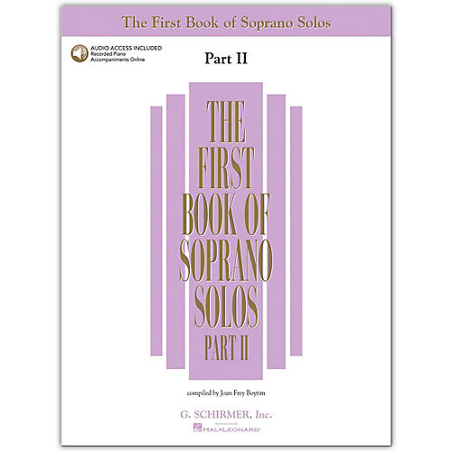 G. Schirmer First Book Of Soprano Solos Part 2 Book/2CD's