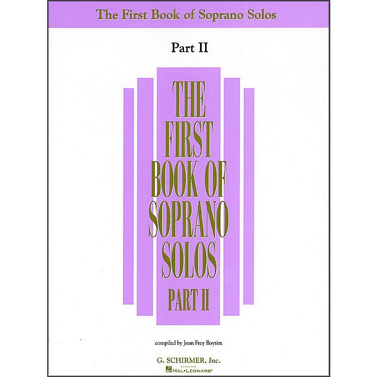G. Schirmer First Book Of Soprano Solos Part 2