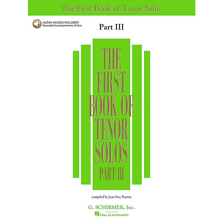 G. SchirmerFirst Book Of Tenor Solos Part III Book/2CD'S