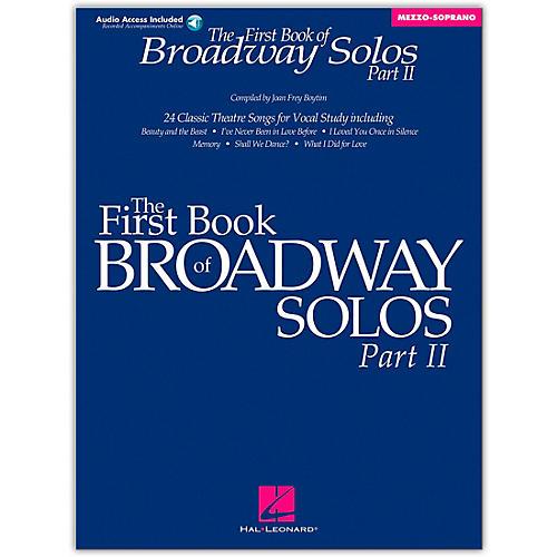 Hal Leonard First Book/Online Audio Of Broadway Solos Part II Mezzo-Soprano Book/Online Audio