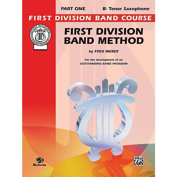 AlfredFirst Division Band Method Part 1 B-Flat Tenor Saxophone