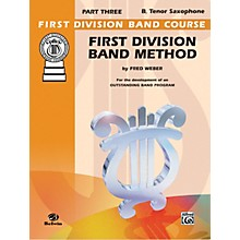 Alfred First Division Band Method Part 3 B-Flat Tenor Saxophone