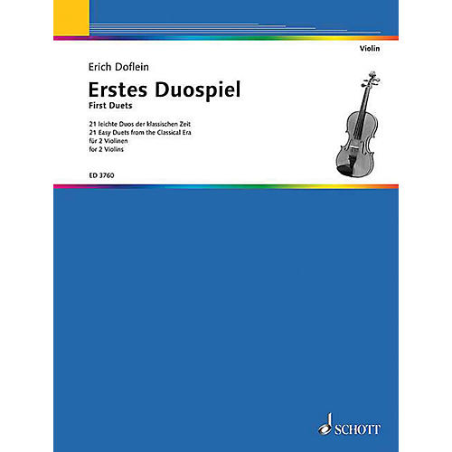 Schott First Duets for Two Violins (Performance Score) Schott Series Softcover-thumbnail