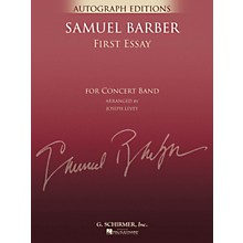 G. Schirmer First Essay (Full Score) Concert Band Level 5 Composed by Samuel Barber Arranged by Joseph Levey