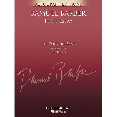 G. Schirmer First Essay (Full Score) Concert Band Level 5 Composed by Samuel Barber Arranged by Joseph Levey-thumbnail